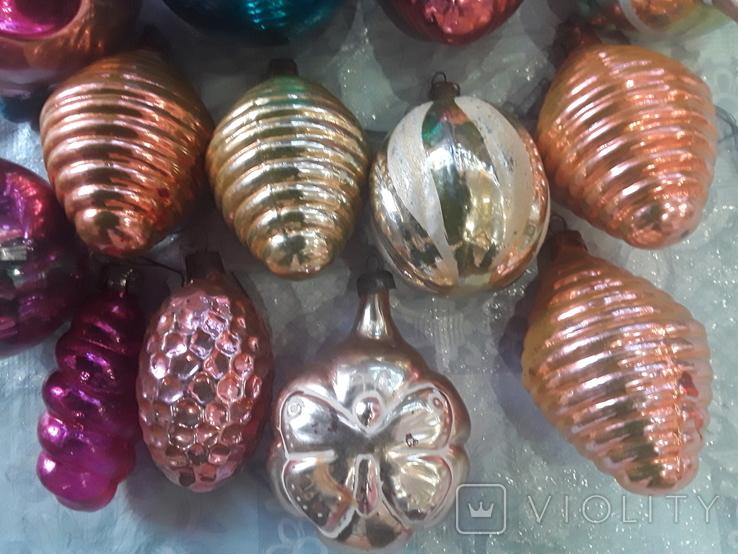 Новогодние игрушки на елку-17 штук (СССР), фото №6