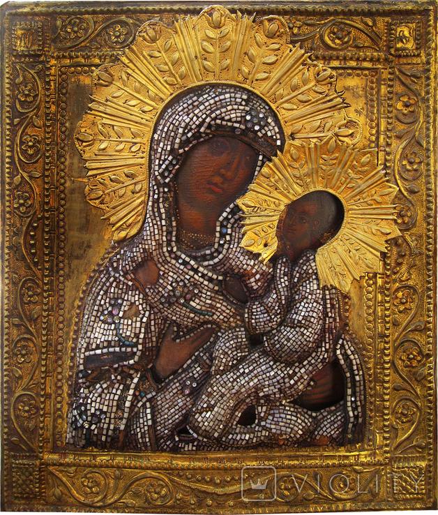 Богородица Тихвинская, XVIIв., фото №2
