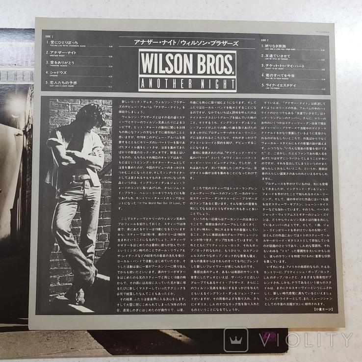 "Платівка. Jazz, Rock. ""Wilson Bros. Another Night""+INSERT1979, фото №4"
