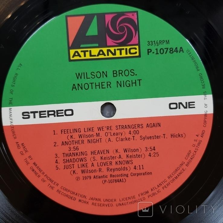 "Платівка. Jazz, Rock. ""Wilson Bros. Another Night""+INSERT1979, фото №6"