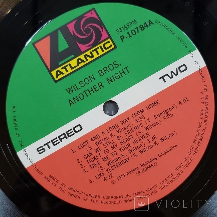 "Платівка. Jazz, Rock. ""Wilson Bros. Another Night""+INSERT1979, фото №7"