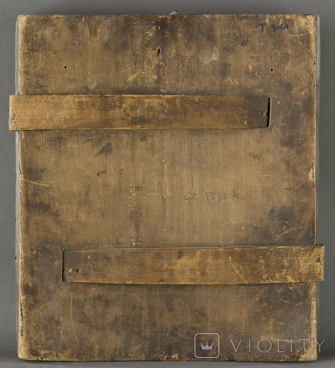 Богородица Страстная, двухковчежная, XVIIв, рубеж, фото №4