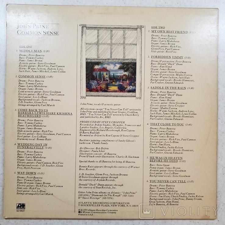 "Платівка. Rock. Country. ""John Prine Common Sense""1975, фото №3"