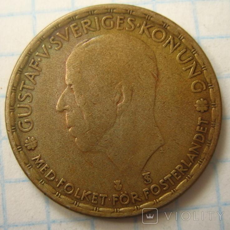 Швеция 1 крона, 1946, фото №3
