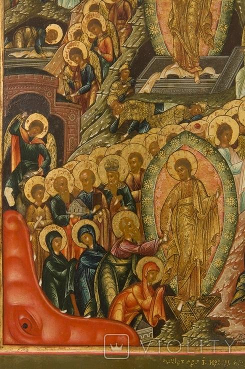 Воскрешение Господне и сошествие в ад, Мстёра или Ярославль, первая половина XIXв., фото №5
