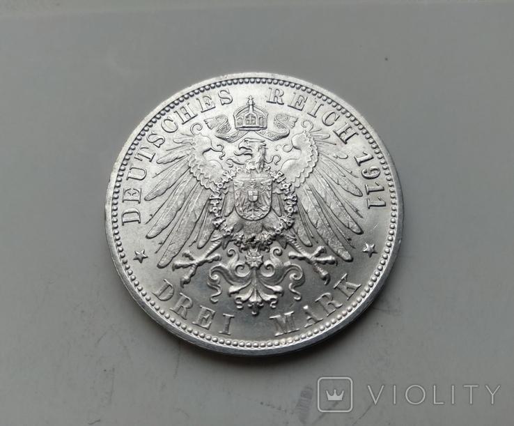 3 марки 1911 Вюртемберг 25-річчя Весілля Вільгельма II, фото №3