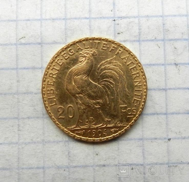 20 франков 1904 г., фото №4