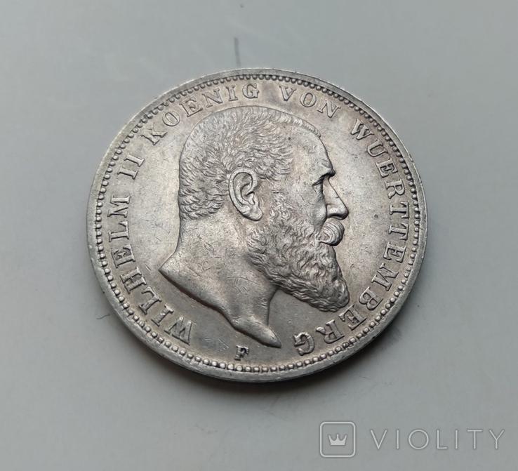 3 марки 1911 Вюртемберг, фото №2