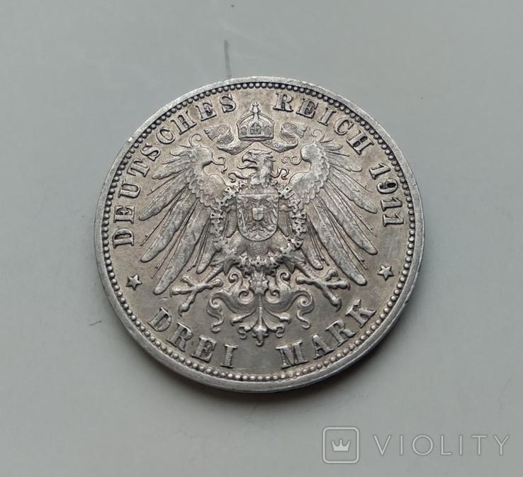 3 марки 1911 Вюртемберг, фото №3