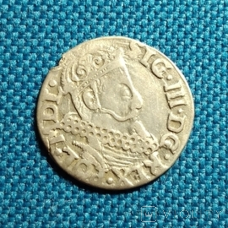 Трояк 1621 Сигизмунда lll, фото №2