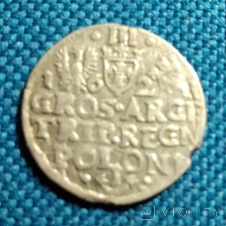 Трояк 1621 Сигизмунда lll, фото №3