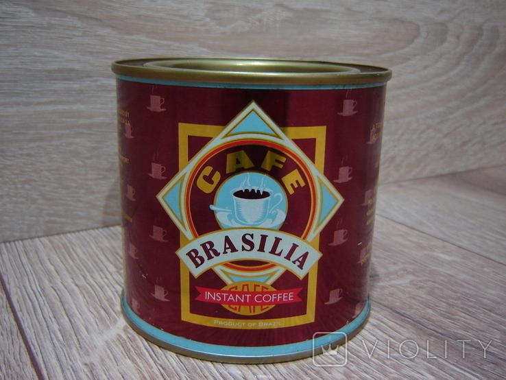 Запечатанная банка кофе Brasilia 1989 год., фото №3