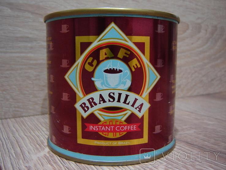 Запечатанная банка кофе Brasilia 1989 год., фото №2