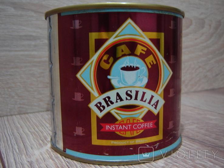 Запечатанная банка кофе Brasilia 1989 год., фото №6