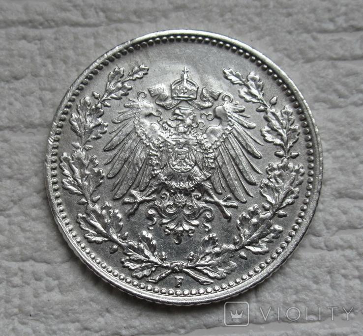 1/2 марки 1919 г. (F) Германия, серебро (№2), фото №6
