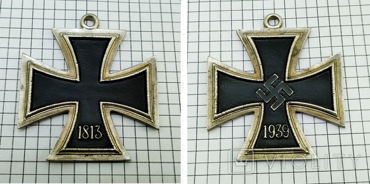 "Орден "" железный крест "" клеймо М. Реплика. свастика. 1813 - 1939, фото №2"