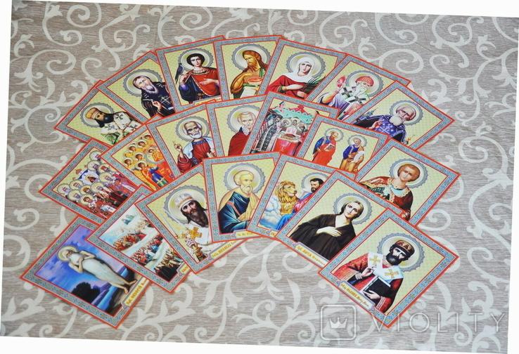 100 разных икон церковных праздников и святых + аналойный киот, фото №13