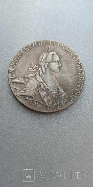 Рубль 1769 года СПБ ЕИ Екатерина 2 копия, фото №2