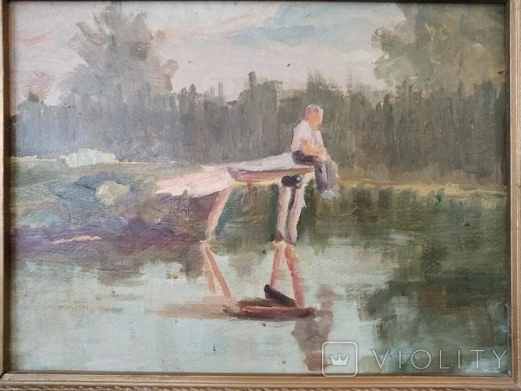 Картина маслом неизвестного художника, фото №4
