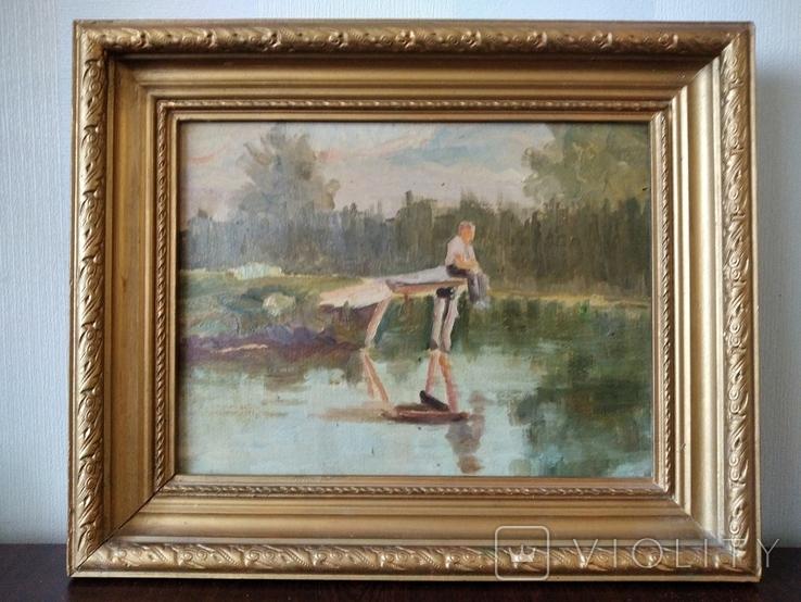 Картина маслом неизвестного художника, фото №2