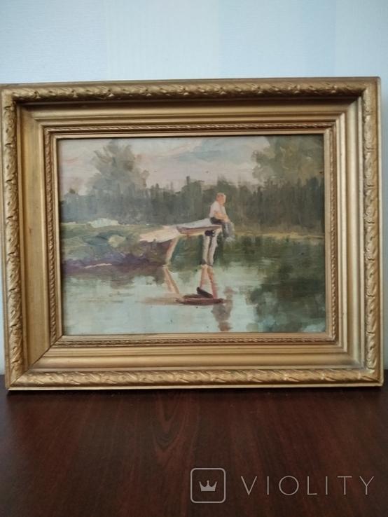 Картина маслом неизвестного художника, фото №11