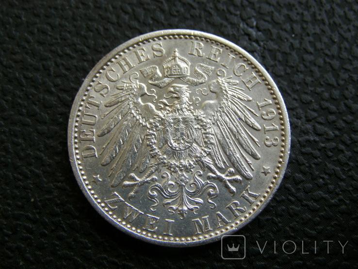 2 марки 1913 г Пруссия, фото №5