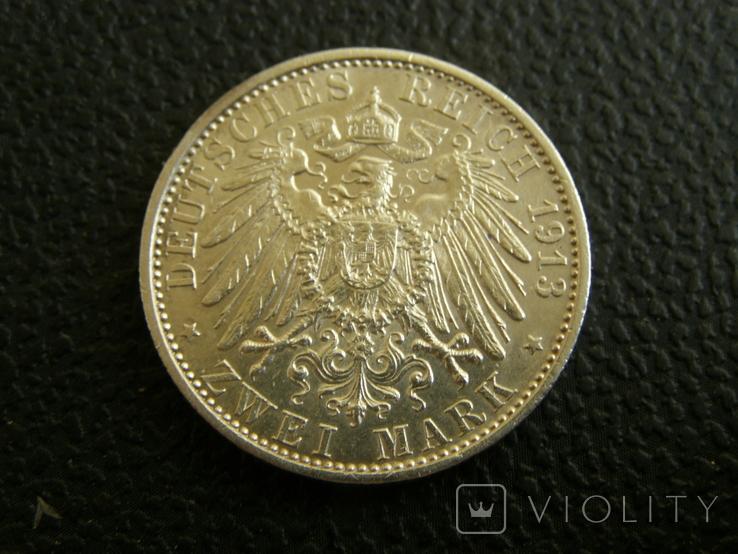 2 марки 1913 г Пруссия, фото №6
