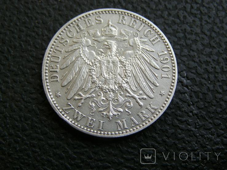 2 марки 1901 г 200 лет королевству Пруссия, фото №6