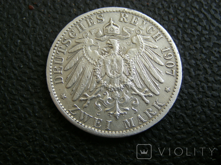 2 марки 1907 г Пруссия, фото №6