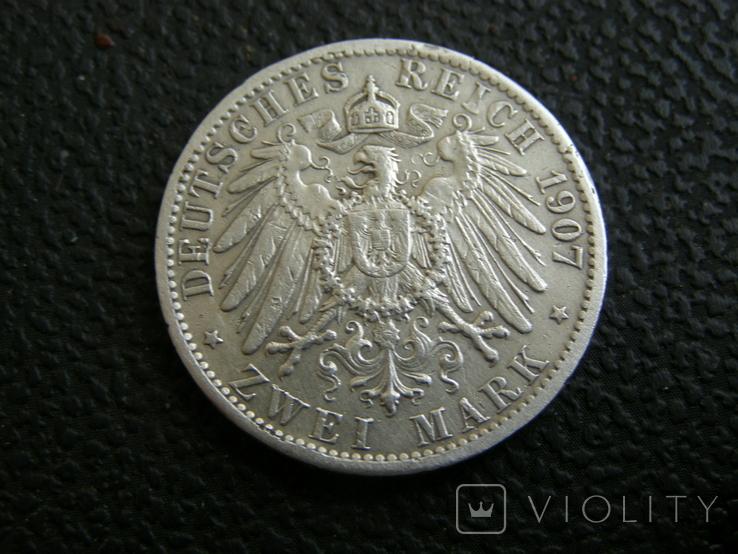 2 марки 1907 г Пруссия, фото №7