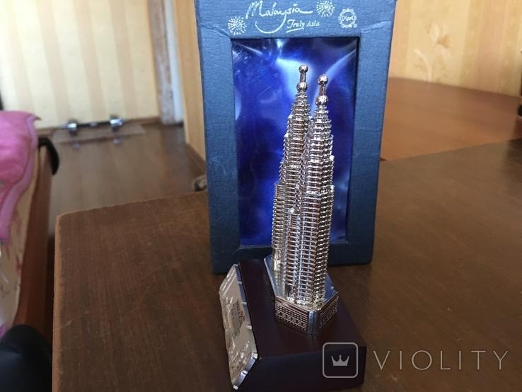 Статуэтка Petronas Twin Towers Malaysia в родной коробке, фото №5