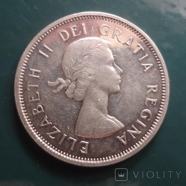 25 центов 1962 Канада серебро (11.4.3)~, фото №3