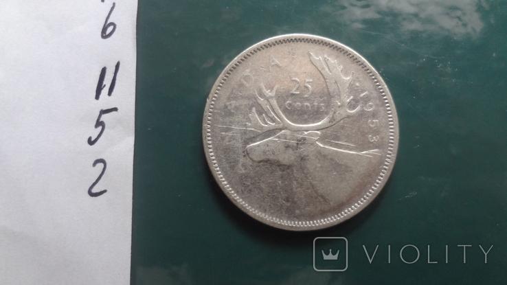 25 центов 1953 Канада серебро (11.5.2)~, фото №5