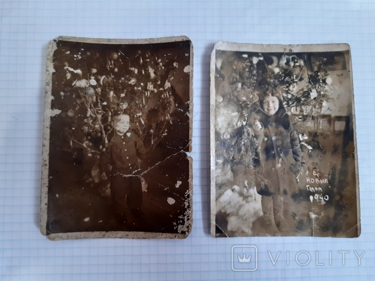 2 новогодних фото (1939 и 1940 гг.), фото №2