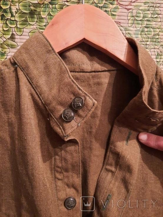 Рубашка военная 64 год советская, фото №3