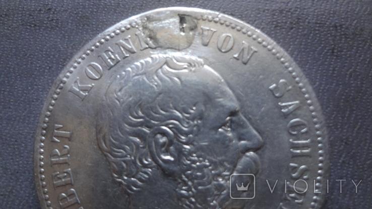 5 марок 1895 Саксония серебро (Ж.3.9)~, фото №3