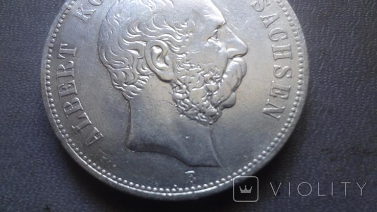 5 марок 1895 Саксония серебро (Ж.3.9)~, фото №4
