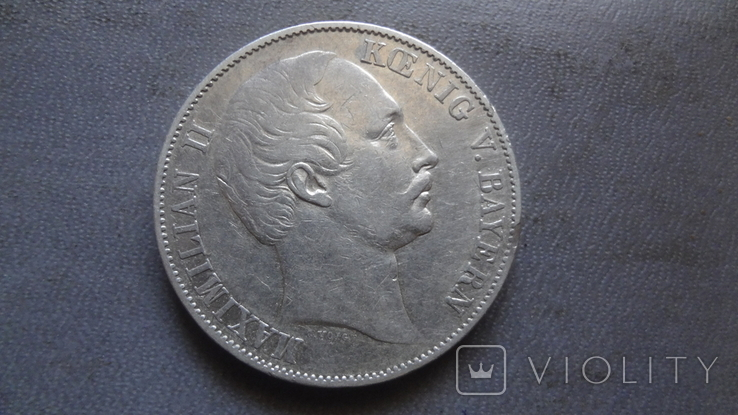 Талер 1858 Бавария серебро (Ж.3.14)~, фото №5