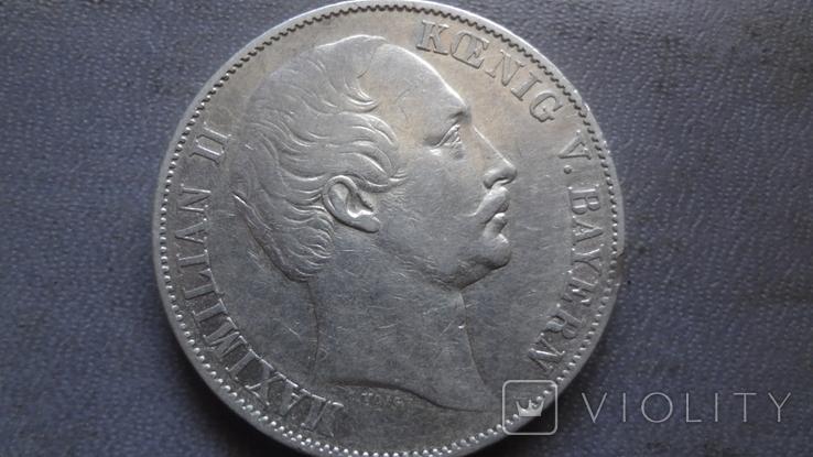 Талер 1858 Бавария серебро (Ж.3.14)~, фото №6