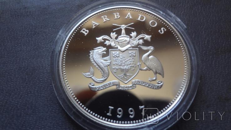 1 доллар 1997 Барбадос серебро (Ж.3.15)~, фото №5