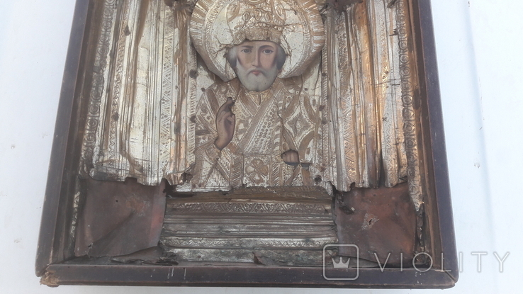 Икона старинная николай 11.03.21.1, фото №11