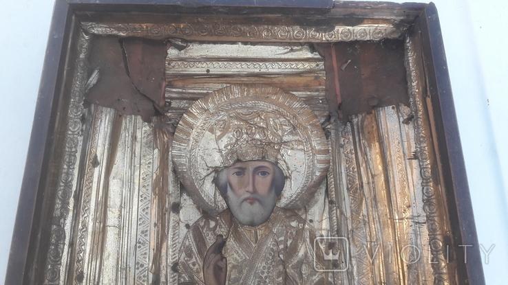Икона старинная николай 11.03.21.1, фото №12