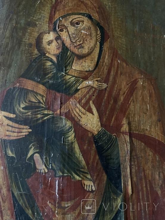 Икона Матерь Божья с сыном, фото №5