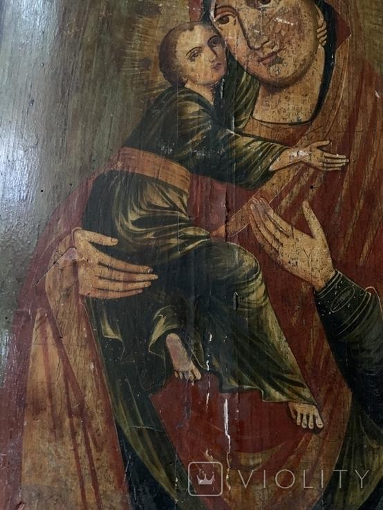 Икона Матерь Божья с сыном, фото №6
