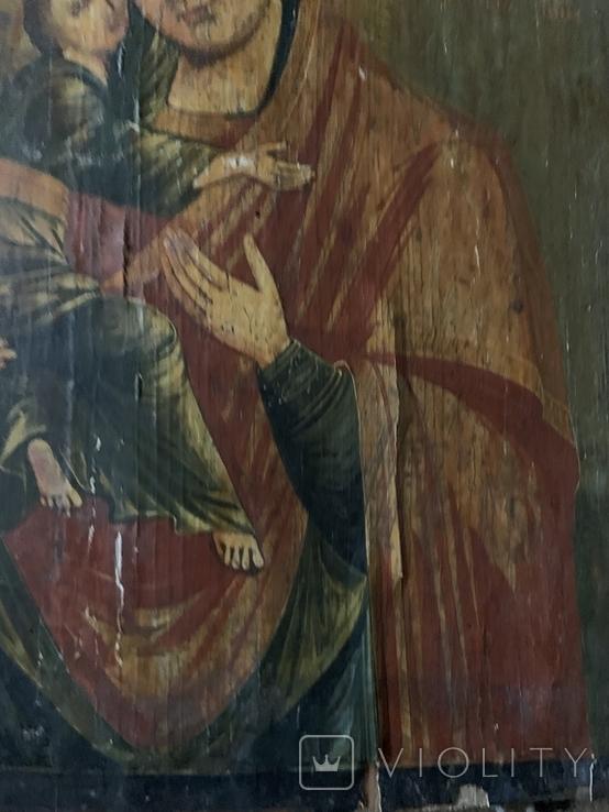Икона Матерь Божья с сыном, фото №7