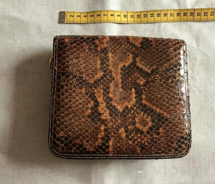 Винтажная сумочка из питона, ручная работа., фото №3