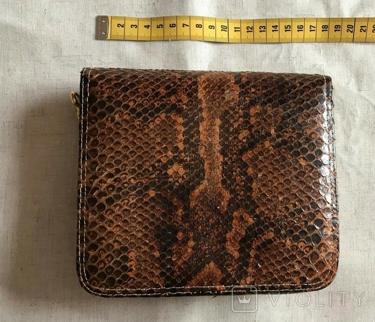 Винтажная сумочка из питона, ручная работа., фото №4