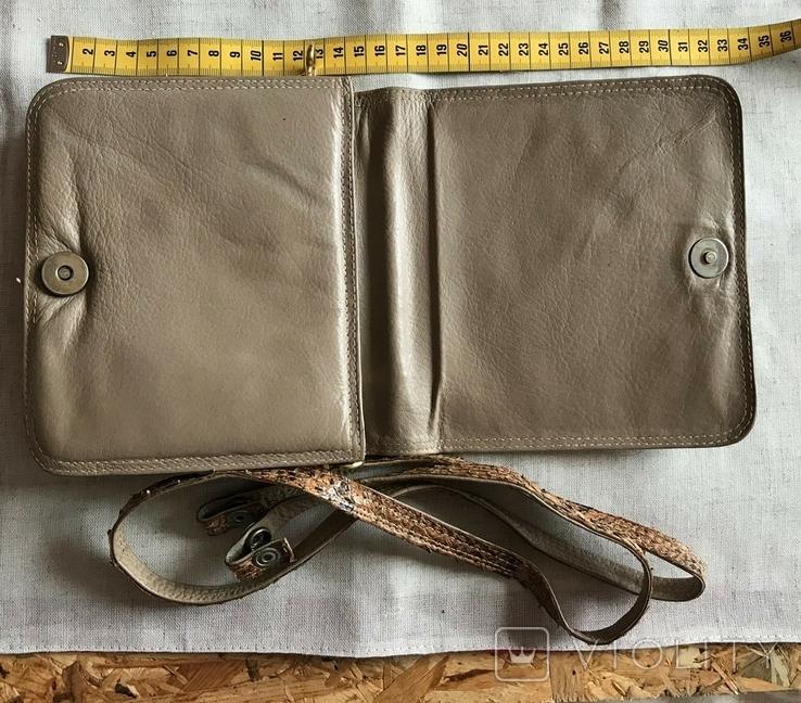 Винтажная сумочка из питона, ручная работа., фото №5