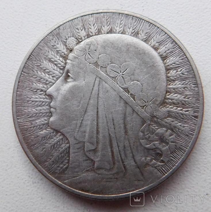 10 злот Ядвига 1933, фото №2
