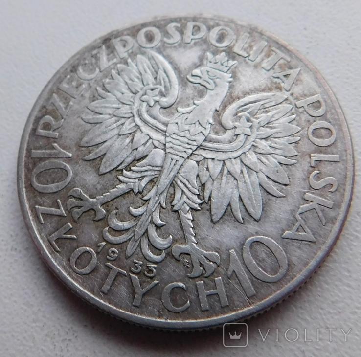10 злот Ядвига 1933, фото №5